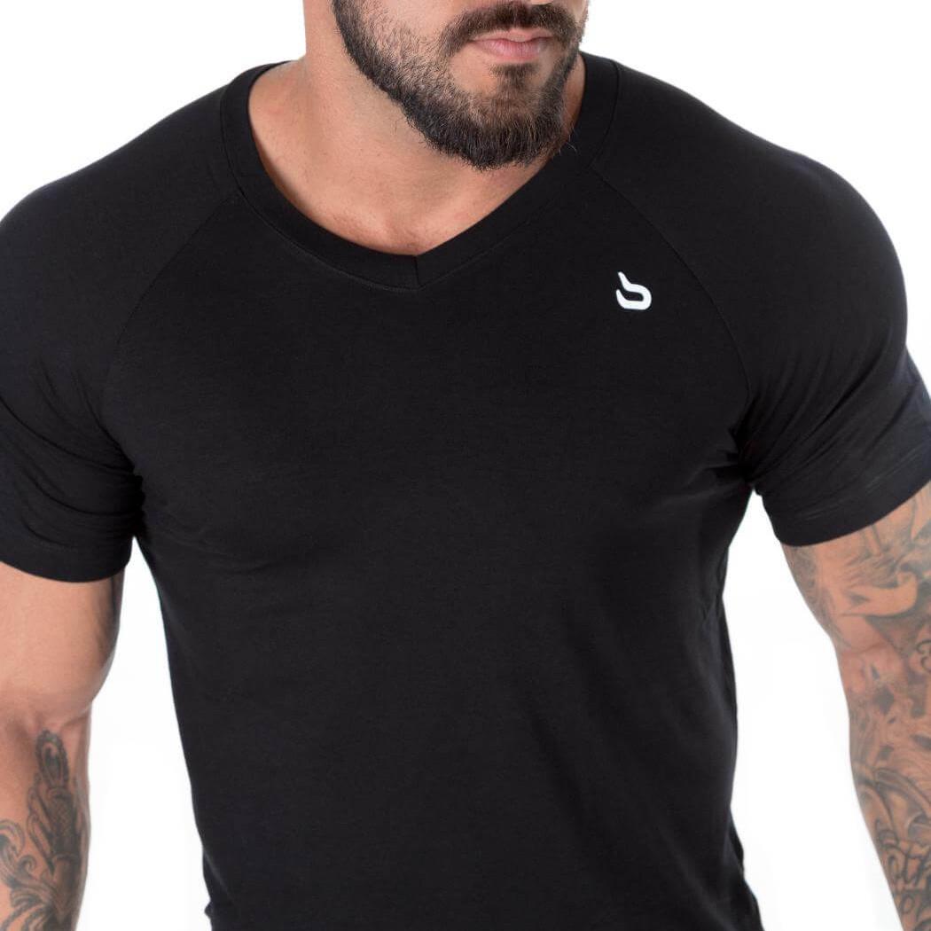 470e72b7a6 Camisa Action Gola V Black - barbell Brasil